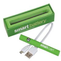 スマートカートの蒸気バッテリー380mAhスマートカートEタバコの予熱VV電池2.4V-3.4V可変電圧蒸気ペン510スレッド気化器緑の電池USB充電器