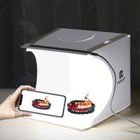Mini Photo Studio Box Светодиодный светлый номер Фотография Фон фона Освещение Стрельба Палатка Степень Закройка Cube Box Фотостудия Бесплатная Доставка