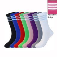 Fashion Cotton Sock Casual Breathable Reflective Striped Soc...