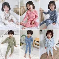 пижамы детские комплекты мальчиков динозавр шаблон ночной костюм дети мультфильм пижамы детские мальчик пижамы хлопок пижамы осень 0-12 лет HNLY09