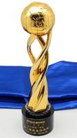 Dünya kupası Altın gümüş metal trophy iki renk mevcuttur futbol yarış mükemmel atıcı Toptan fabrika doğrudan satış