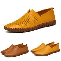 2.020 Tamaño grande caliente de los zapatos para correr para hombre para los hombres de la PU de color amarillo oscuro negro blanco azul zapatillas de deporte de moda 41