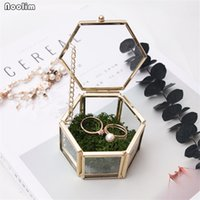 NOOLIM Glass Geometry Container Ring Box Makeup Organizer Je...