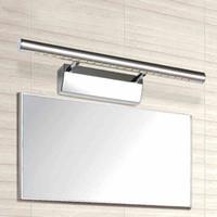 2019 الحديثة أدى مرآة الجبهة ضوء الحمام المقاوم للصدأ الجدار مصباح الحمام المكياج الجدول فندق كما مرآة الإضاءة 5 واط 40 سنتيمتر