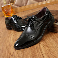 Winter leather shoes men' s pointed youth Korean version...