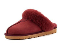Hot Sale-Classic Design 51250 Warme Pantoffeln Ziegenfell Schaffellschneeaufladungen Martin-Aufladungen kurz Frauen Stiefel halten warme Schuhe Freies Verschiffen