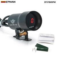 EPMAN 37mm meter/gauge - Compact Micro Digital Smoked Lens Rev Counter RPM Tacho Gauge Auto gauge EP37BKRPM