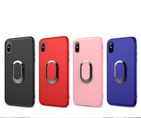 iPhone XR Case Ring Buckle Matte Soft TPU Phone Shell Invisi...
