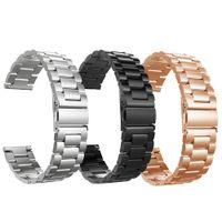 Huawei GT2 삼성 3-45mm 기어 S3 스트랩 46mm 스테인레스 스틸 Ticwatch iWatch 링크 팔찌 금속 클래식 스포츠 밴드