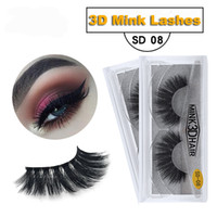 1 paire / lot 3D vison cils extension de cils 100% main volume épais long faux cils maquillage Giltter emballage 1 paire