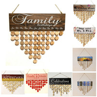 Wooden Family and Friends Happy Birthday Calendar Anniversar...