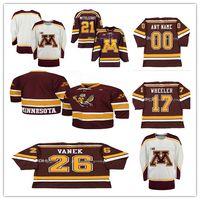 Jersey de hockey Blake Wheeler 4 Erik Johnson 9 Kyle Okposo 26 Thomas Vanek 5 Nick Leddy 21 Casey Mittelstadt