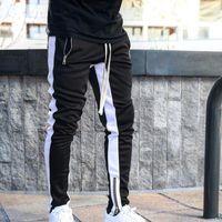 Hommes Joggers Pantalons simple Fitness hommes Vêtements de sport Survêtement Bas Skinny Pantalons Pantalon Gymnases Noir Jogger Piste Pants1