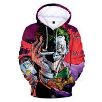 Pullover Streetwear Mäntel Designer Luxus Herren Selbstmordkommando Joker 3D Print Hoodies Pullover Sweatshirt Jacke Pullover Top C73101