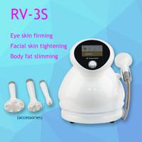 تواجه الموجات فوق الصوتية RF فراغ مكركرنت الفوتون حرق الدهون عيون الجسم آلة التخسيس، نظام جمال RV-3S RV