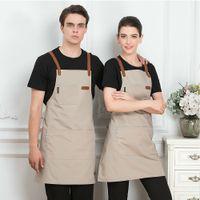 Unisex Moda Chef Cook Mutfak Önlüğü Coffee Shop Kuaför Kolsuz Çalışma Üniforma Önlüğü İş Giyim Zehirli Önlükleri