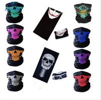 230 Styles Hip Hop Skull Bandana magique Foulard équitation en extérieur transparente Masques Visage Tube cou magique Bandeau Imprimer Bandanas Bandanas