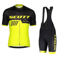SCOTT Team Cycling Jersey Set 2019 Pro Summer Men Bike Uniforme Racing Bicicleta Ropa Traje Transpirable MTB Bike Sportwears Y041004