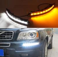 Para Volvo XC90 2007 - 2012 2013 Transformar Relé de Sinal amarelo ABS À Prova D 'Água Do Carro LEVOU DRL 12 V LED Daytime Running Luz do dia