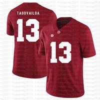 Alabama Crimson Tide 13 Tua THAYVAILOA American Football Jersey 10 Tom Brady 26 Saquon Barkley 97 Nick Bosa Jerseys rot Xef