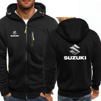 Adam 6 renk ceket için Suzuki kazak kış sonbahar ilkbahar Kapüşonlular kat fermuar hoodie Erkekler Rasgele