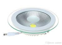 مصنع سعر الجملة COB 18W / 15W / 9W عكس الضوء LED COB لوحة ضوء AC90-260V راحة COB النازل غطاء زجاجي LED مصباح السقف