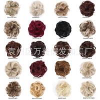 Haar-Riegel-Perücke Tasche europäische und amerikanische Art-Frauen Haar Größe Fleischklöschenkopf Curls Chemical Fiber Hochtemperatur Hersteller Benutzerdefinierte