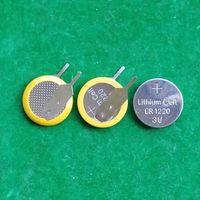 2000pcs / Lot Welded tabs CR1220 3V Lithium-Knopfzellenbatterie CR1220-VC-Knopfzelle mit Stiften für PCB