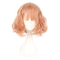 Япония и Южная Корея парик воздуха взрыва Пункт с ежедневными Harajuku розового золота косплей парик 100% Высокая температура волокна