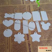 DHL БЕСПЛАТНЫЕ Сублимационные заготовки металлические подвесные пластины брелок теплопередача двойные стороны Печать собаки теги кота с цепочкой могут смешать