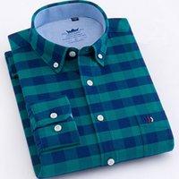 الرجال عارضة القمصان القطن 100٪ بلايز تصميم سوبر جودة عالية أكسفورد قميص طويل الأكمام ضئيلة 5xl الرجال منقوشة