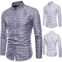 Camisa de manga larga de la marca De manga larga para hombre Oxford Formal Casual Plaid Slim Fit camisas de vestir Top camisa masculina chemise homme M-5XL