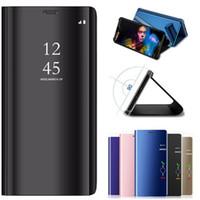 Coque Case Coque Pour Oneplus 6T Couverture Smart View Miroir pour Oneplus 6 Stand Etui En Cuir One Plus 6T A6010 Téléphone cas