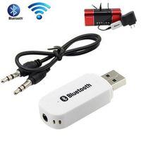 Car USB Bluetooth Récepteur Bluetooth Aux Stereo Bluetooth Dongle Receiver Kit sans fil Bluetooth Receiver 3.5mm Jack pour Smartphone PSP Tablet