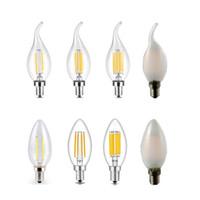 Ampoule LED E27 DIMMABLABLE 2W 4W 6W 8W E14 LED Bougeoir Ampoule ampoule 110V 220V Lampe à filament Vintage pour l'éclairage de lustres.