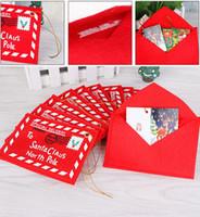 Sobre de Navidad Decoración de árbol de Navidad Tarjeta de dulces Titular de bolsa Tarjeta de felicitación Cubierta de regalo Decoración de fiesta No tejido Nuevo