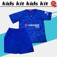 2019 Kids suit #10 HAZARD Home blue soccer Jersey 19 20 #7 K...