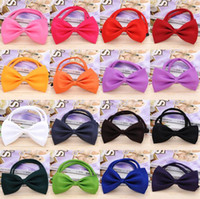 Adjustable Pet Dog Bow Tie 15 Colors Pet Headdress Neck Acce...