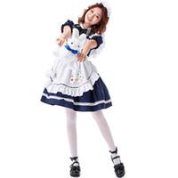 Halloween Alice im Wunderland Adult Anime-Mädchen Cosplay Lolita Kleid weibliche süße Sexy Kawaii Partei-Kleidung für Mädchen