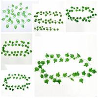 Artificial Verdura artificiais plantas Folhas de suspensão folhas da videira árvore artificial Ramos Falso Leaves Wedding Garden Decoration LXL998-1