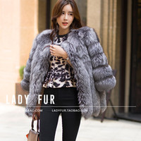 2017 Autumn Winter coat warm New Silver Fox Fur coat outerwe...