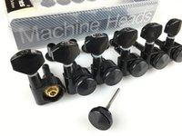 رؤساء جودة عالية الأسود الغيتار قفل ضبط أوتاد آلة كهربائية غيتار المستقبلون JN-07SP (مع التغليف)
