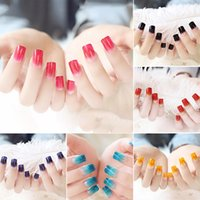 24pcs Acrylic False Nails Charm Fake Artificial Toe Tips Nai...