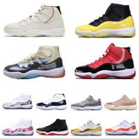 11s Platinum Tint Concord 45 Mens tênis de basquete 11 Cap and Gown Blackout Stingray Gym Red Midnight Marinha Criada Espaço Jams Sneakers Esportes