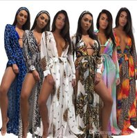 Summer Beach Long Chiffon Leopard Colorful Boho Dresses Holi...