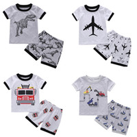 Baby Boys Outfits Printed Kids T Shirt Shorts 2PCS Set Short...