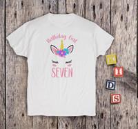 Kids Tee 7th Birthday Shirt Girl T Unicorn Seventh Men Women Unisex Fashion Tshirt Funny Cool Top White Designable Shirts Buy
