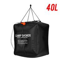 HBP 20L / 40L sacchetto di acqua riscaldata solare portatile energia riscaldata energia riscaldata bagno all'aperto campeggio borse doccia picnic sacchetto d'acqua escursionismo stoccaggio dell'acqua