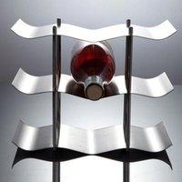 Küche Zubehör Homehold 3-Schichten Edelstahl Rotwein Flasche Rack Halter Halterung Home Bar Werkzeuge Wein Gadget Bevorzugt