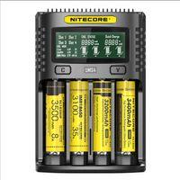 18650 16340 21700 20700 22650 26500 18350 Pil Şarj için NC LCD Akıllı Pil Akıllı QC Şarj